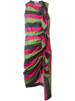 Асимметричное платье Isa Arfen. Цвет: многоцветный