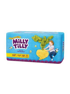 Milly Tilly Пелёнки  детские одноразовые 60х90см уп.10. Цвет: белый