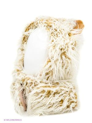 Шапка True Fur. Цвет: бежевый, белый