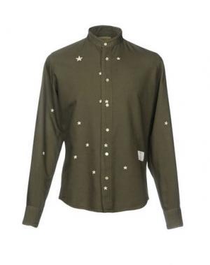 Pубашка THE EDITOR. Цвет: зеленый-милитари