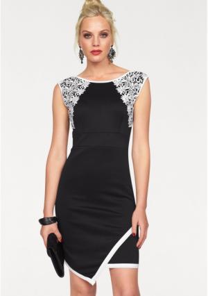 Платье MELROSE. Цвет: черный/белый