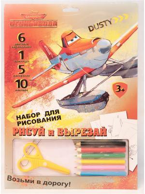 Набор рисуй и вырезай Disney Самолеты с карандашами. Цвет: красный