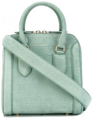 Структурированная сумка на плечо Alexander McQueen. Цвет: зелёный