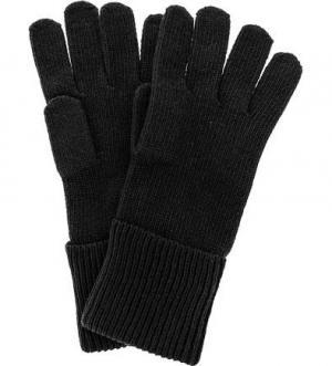 Черные вязаные перчатки Tommy Hilfiger. Цвет: черный