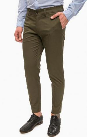 Классические брюки цвета хаки DRYKORN. Цвет: хаки