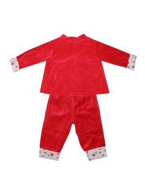 Комплект (жакет , брюки) KIDAXI. Цвет: коралловый