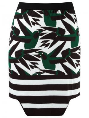 Трикотажная мини юбка Gig. Цвет: чёрный