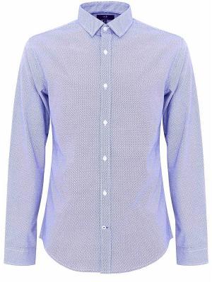 Рубашка Oodji. Цвет: белый, фиолетовый