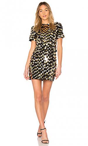Мини платье elsa RACHEL ZOE. Цвет: металлический золотой