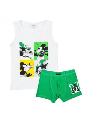 Комплект белья PlayToday. Цвет: белый, зеленый, черный