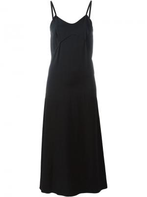 Платье на бретельках Forte. Цвет: чёрный