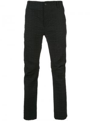 Строгие брюки Uma Wang. Цвет: чёрный