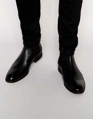 Standard Fortyfive Кожаные ботинки челси. Цвет: черный