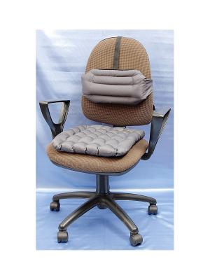 Комплект подушек Уютный офис SMART-TEXTILE. Цвет: серый