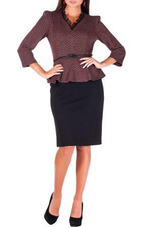 Платье Mannon. Цвет: серо-коричневый