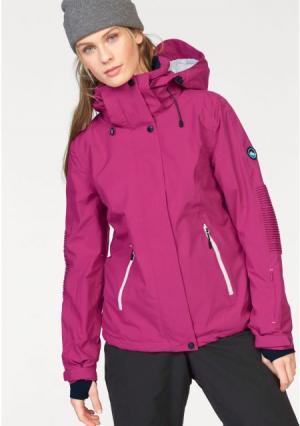 Горнолыжная куртка POLARINO. Цвет: ярко-розовый