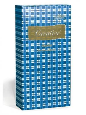 Салфетки Creative Snacks 33х33 см, Синяя Клетка, 3-слойные, 16 шт./уп Aster. Цвет: синий