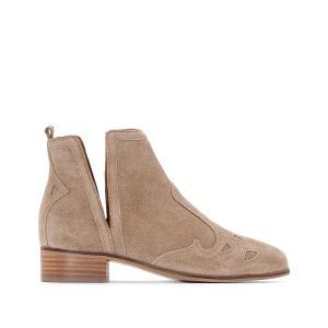 Ботинки кожаные ESPRIT. Цвет: черный
