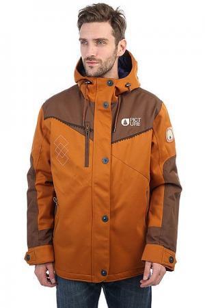 Куртка утепленная  Number Real Brown Picture Organic. Цвет: коричневый