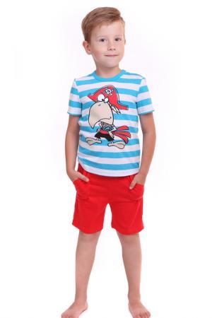 Костюм: футболка, шорты СВIТАНАК. Цвет: красный