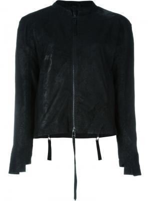 Asymmetric cuff zipped jacket Barbara I Gongini. Цвет: чёрный