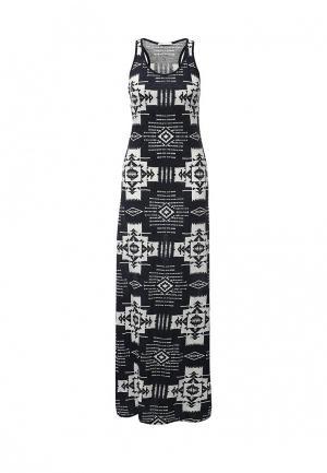 Платье oodji. Цвет: черно-белый