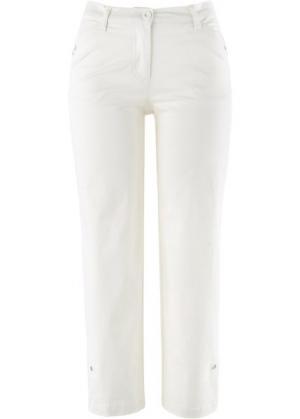 Брюки-стретч длины 7/8 (цвет белой шерсти) bonprix. Цвет: цвет белой шерсти