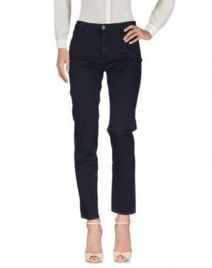 Повседневные брюки BIANCOGHIACCIO. Цвет: темно-синий
