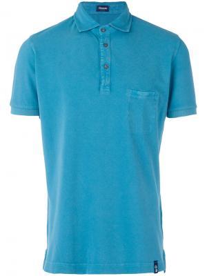 Рубашка-поло с нагрудным карманом Drumohr. Цвет: синий