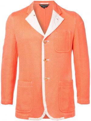 Фактурный пиджак Comme Des Garçons Vintage. Цвет: жёлтый и оранжевый