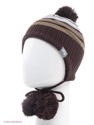 Вязаная шапка HUPPA. Цвет: коричневый