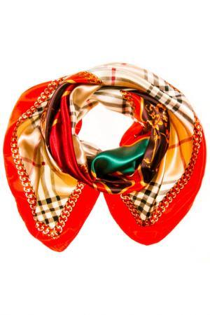 Платок Vita Pelle. Цвет: красный, бежевый