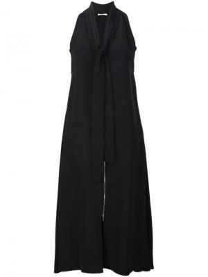 Платье с завязкой на горловине Edun. Цвет: чёрный