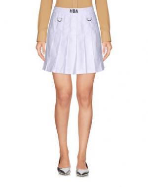 Мини-юбка HBA HOOD BY AIR. Цвет: белый