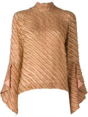 Блузка с расклешенными рукавами Marco De Vincenzo. Цвет: жёлтый и оранжевый