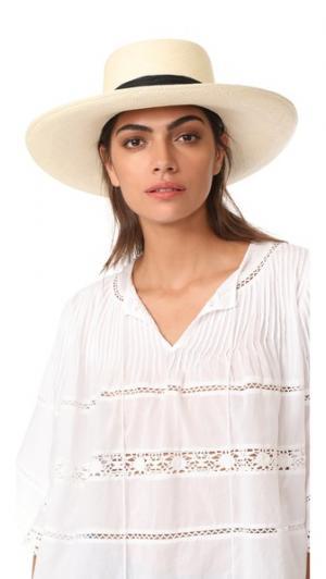 Шляпа Polo с двумя шнурками Artesano. Цвет: натуральный/черный