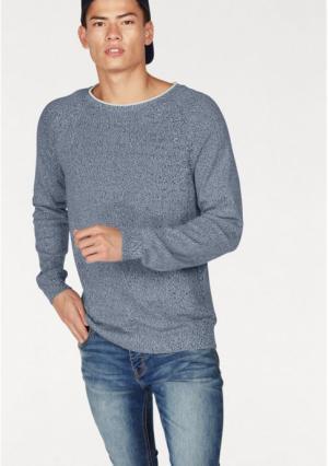Пуловер JOHN DEVIN. Цвет: красный меланжевый, синий/меланжевый, черный/меланжевый