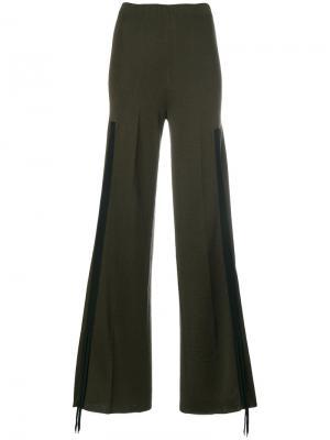 Трикотажные брюки палаццо Circus Hotel. Цвет: зелёный