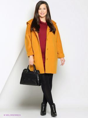 Пальто Anora. Цвет: горчичный