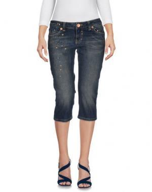 Джинсовые брюки-капри SEVEN7. Цвет: синий