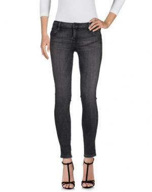 Джинсовые брюки BLEULAB. Цвет: свинцово-серый