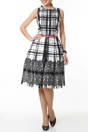 Платье с ремнем Argent. Цвет: черный, белый