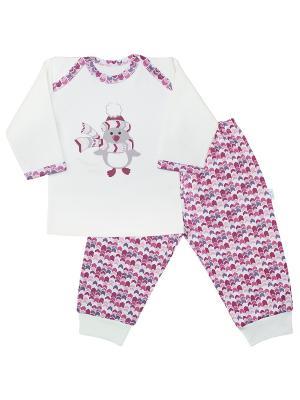 Пижама Веселый малыш. Цвет: молочный, коралловый, розовый