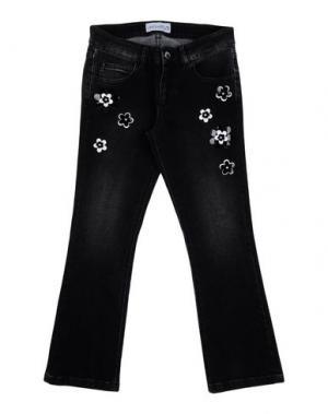 Джинсовые брюки SIMONETTA. Цвет: стальной серый