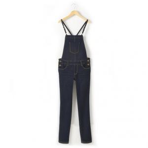 Комбинезон джинсовый зауженного покроя, 10-16 лет R essentiel. Цвет: темно-синий