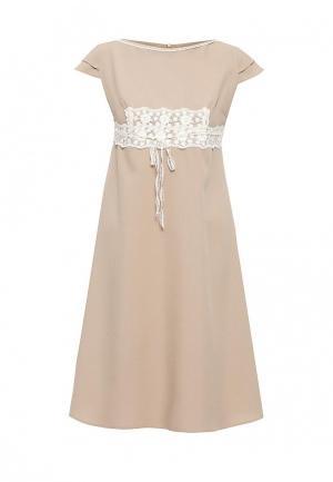 Платье Diana Pavlovskaya. Цвет: бежевый