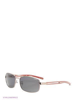 Солнцезащитные очки Polaroid. Цвет: темно-серый, черный