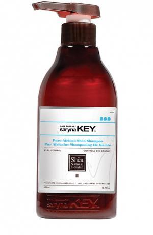 Восстанавливающий шампунь для кудрявых волос Curl Control Saryna Key. Цвет: бесцветный