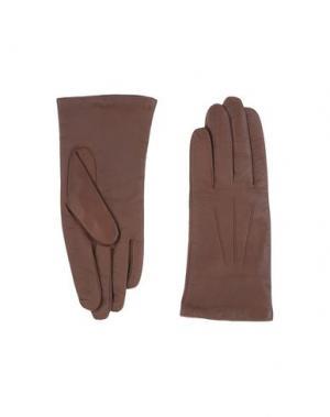 Перчатки DENTS. Цвет: темно-коричневый