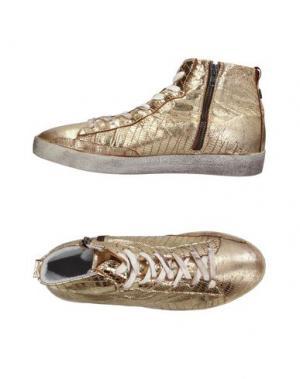 Высокие кеды и кроссовки KEEP ORIGINALS. Цвет: золотистый